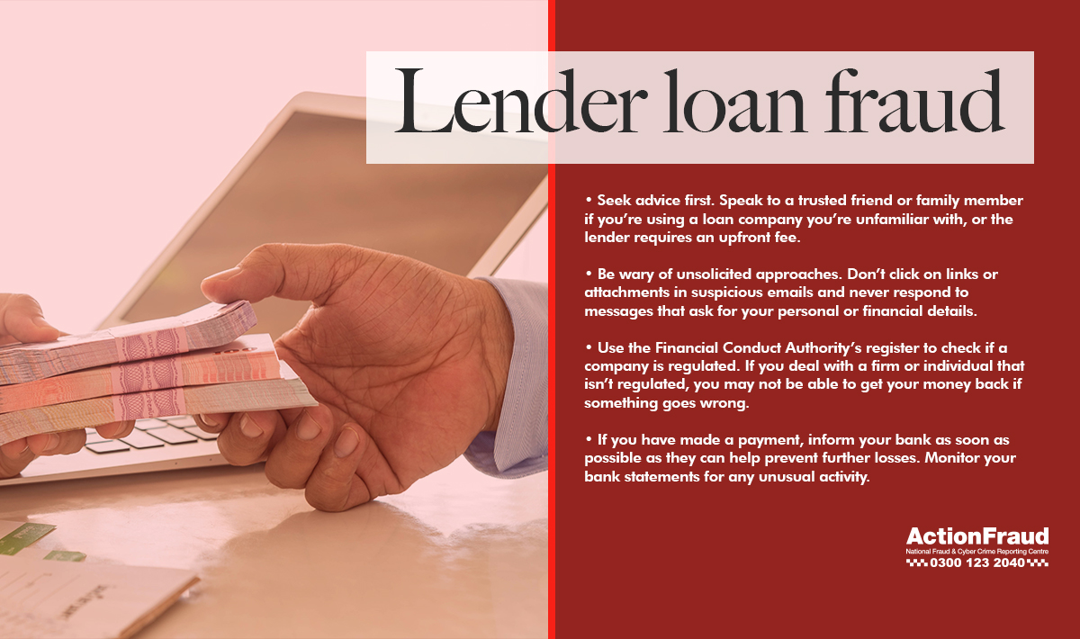 Lender loan fraud
