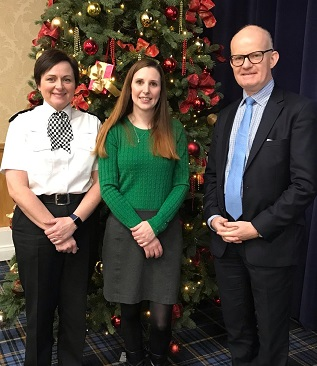 DCC Louisa Rolfe, Domestic Abuse survivor Lucy and DPP Max Hill