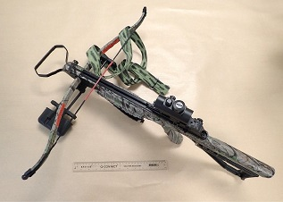 Crossbow used by David Ball