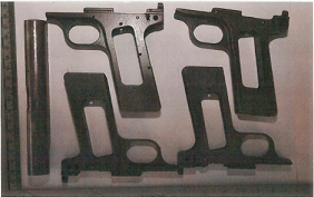Gun parts found at the factory