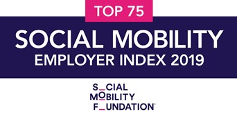 Top 75 employer for social mobility