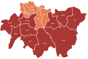 London South map
