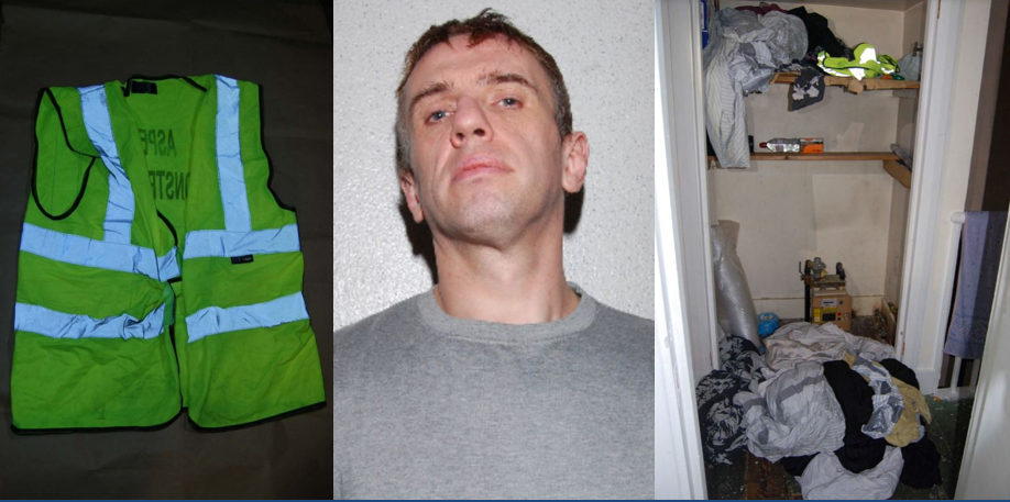 O'Rourke, hi-vis jacket and where it was found in O'Rourke's home