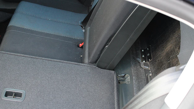Secret compartment in Brown's car