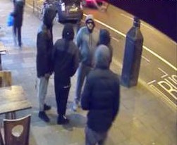 Brown caught on CCTV before the attack