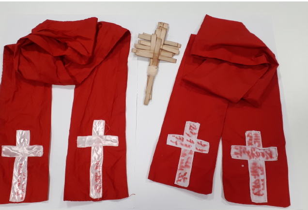 Oluronbi's vestments, used while administering 'holy baths'