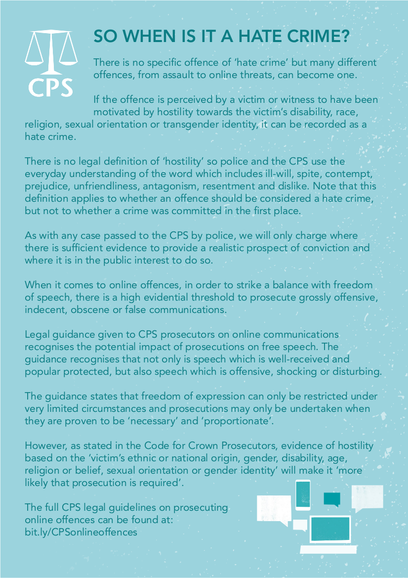 Hate crime matters | The Crown Prosecution Service
