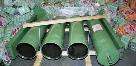Industrial rollers containing large quantities of cocaine and cannabis