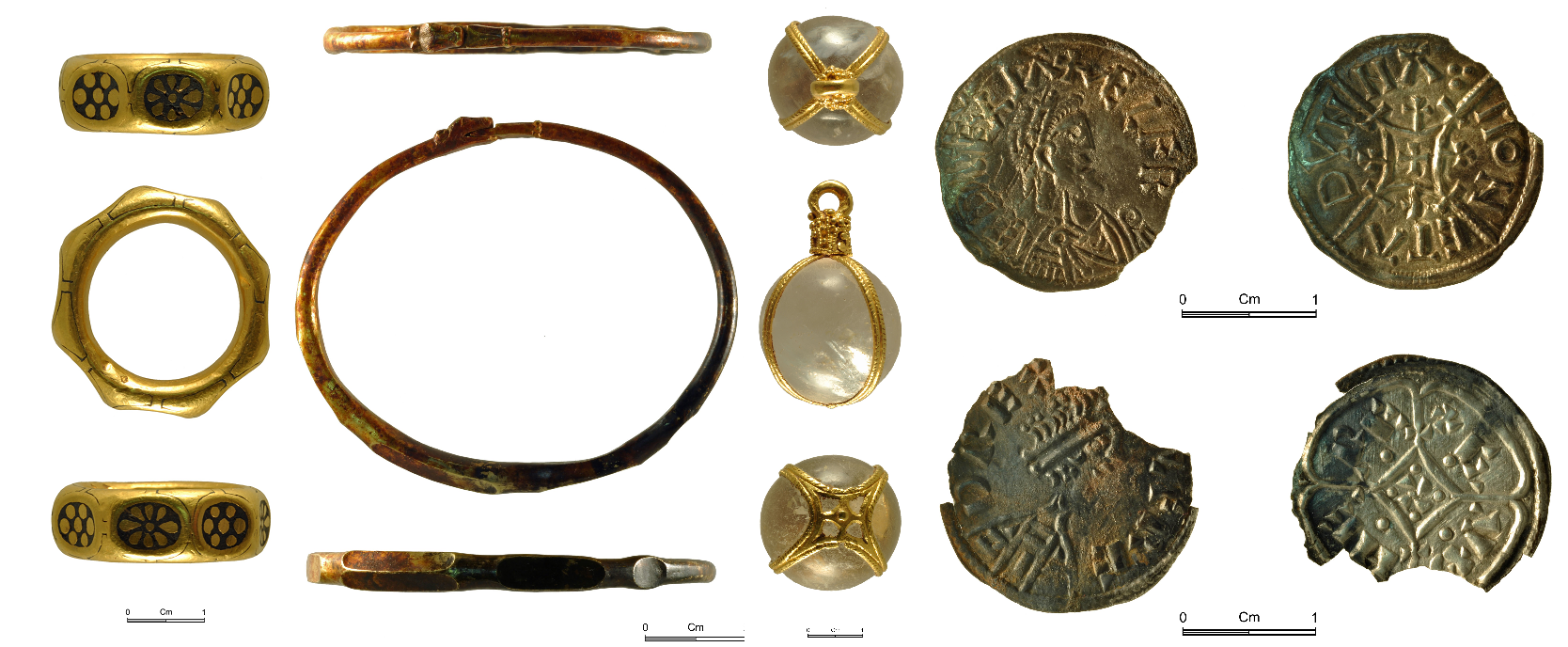 Some of the hoard discovered by the men